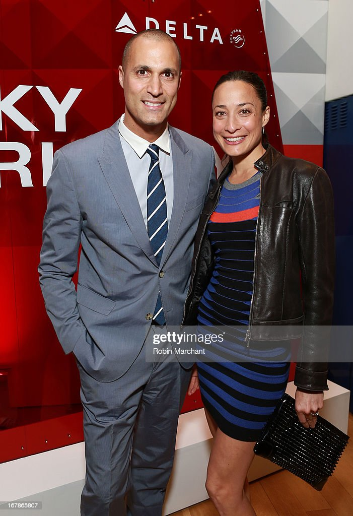 Cristen Barker and <a gi-track='captionPersonalityLinkClicked' href=/galleries/search?phrase=Nigel+Barker&family=editorial&specificpeople=691819 ng-click='$event.stopPropagation()'>Nigel Barker</a> attend as Delta Air Lines celebrate the opening night of T4X, a pop up experience showcasing distinctive features of the airline's newly transformed international hub at JFK's Terminal 4 on May 1, 2013 in New York City.