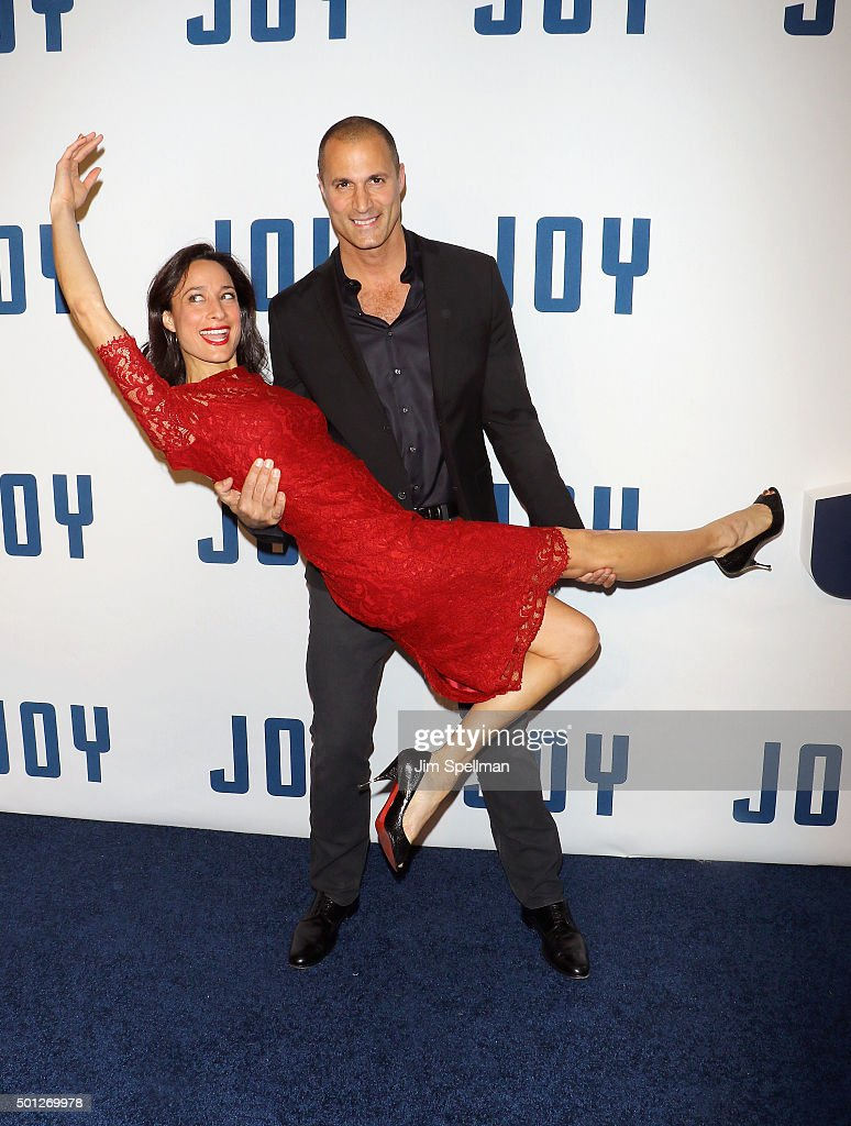 Cristen Barker and photographer Nigel Barker attends the 'Joy' New York premiere at the Ziegfeld Theater on December 13 2015 in New York City