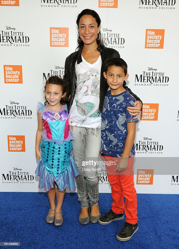 Cristen Barker (C) attends Disney's The Little Mermaid special screening at Walter Reade Theater on September 21, 2013 in New York City.