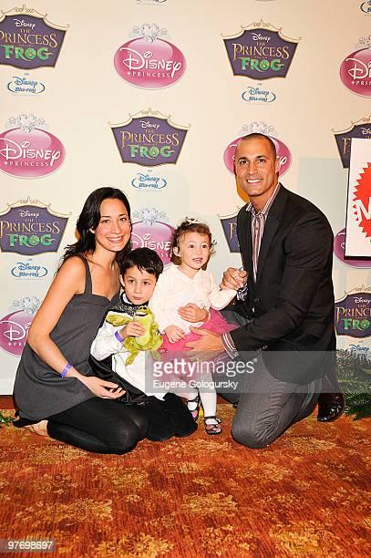 Cristen Barker Jack Barker Jasmine Barker and Nigel Barker attend Princess Tiana's official induction into the Disney Princess Royal Court and 'The...