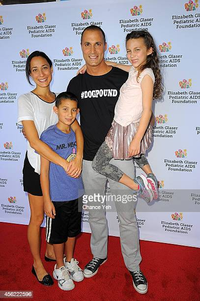 Cristen Barker Jack Barker Nigel Barker and Jasmine Barker attend Elizabeth Glaser Pediatric AIDS Foundation's 'Kids 4 Kid' Family Festival at...