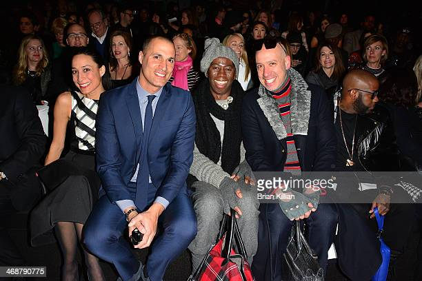 Cristen Barker Nigel Barker Miss J Alexander and Robert Verdi attend the Pamella Roland Show during MercedesBenz Fashion Week Fall 2014 at The Salon...