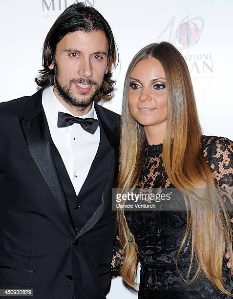 Cristian and Alessia Zaccardo attend Fondazione Milan 10th Anniversary Gala on November 20 2013 in Milan Italy