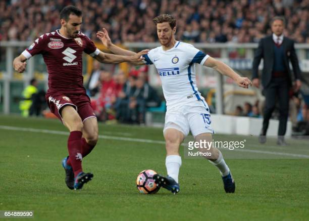 Cristian Ansaldi in action during the Serie A match between FC Torino and FC Internazionale at Stadio Olimpico di Torino on March 18 2017 in Turin...