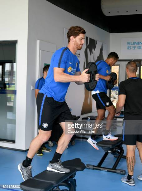 Cristian Ansaldi of FC Internazionale in action during a FC Interazionale training session at Suning training center on July 23 2017 in Nanjing China