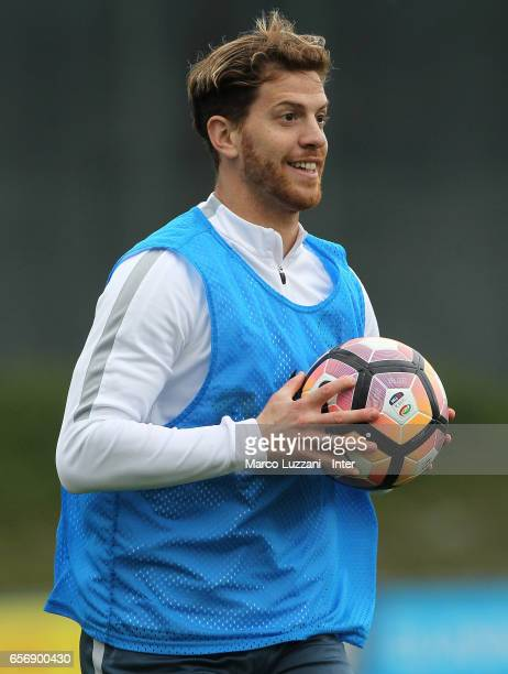 Cristian Ansaldi of FC Internazionale in action during the FC Internazionale training session at the club's training ground Suning Training Center in...