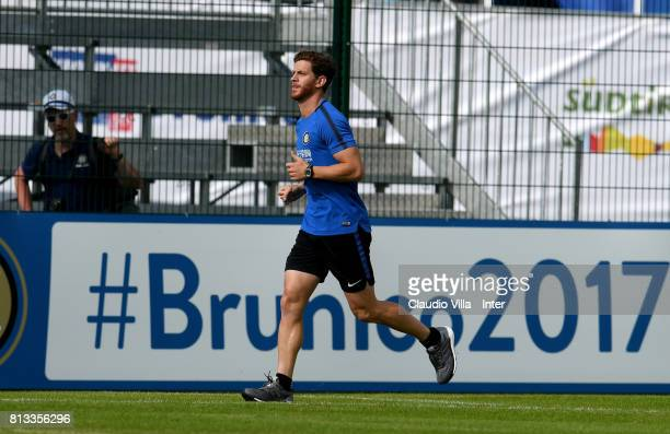 Cristian Ansaldi of FC Internazionale in action during the FC Internazionale training session on July 12 2017 in Reischach near Bruneck Italy