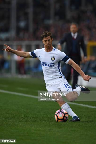 Cristian Ansaldi of FC Internazionale in action during the Serie A match between FC Torino and FC Internazionale at Stadio Olimpico di Torino on...