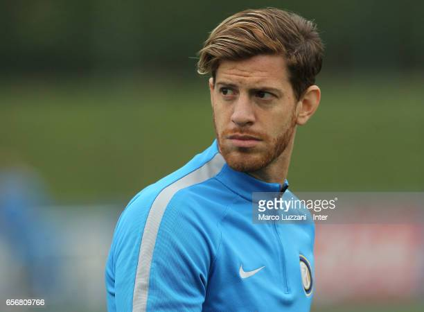 Cristian Ansaldi of FC Internazionale looks on during the FC Internazionale training session at the club's training ground Suning Training Center in...