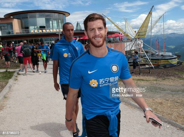 Cristian Ansaldi of FC Internazionale Milano visits Plan de Corones during the FC Internazionale training camp on July 13 2017 in Reischach near...