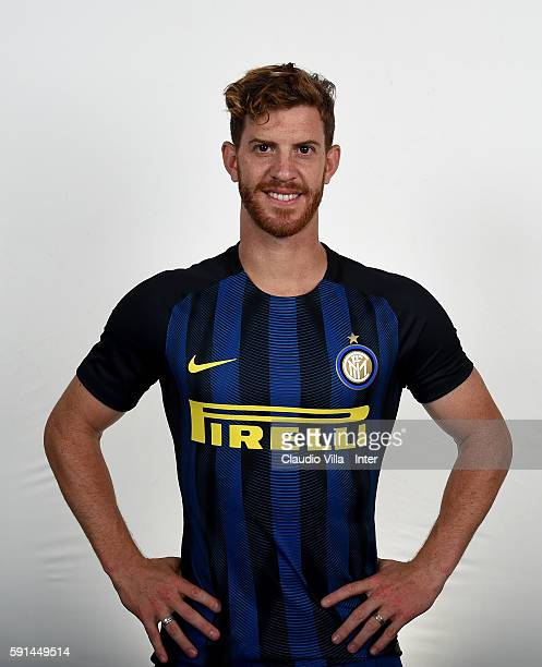 Cristian Ansaldi of FC Internazionale poses during the official portrait session at Appiano Gentile on August 16 2016 in Como Italy