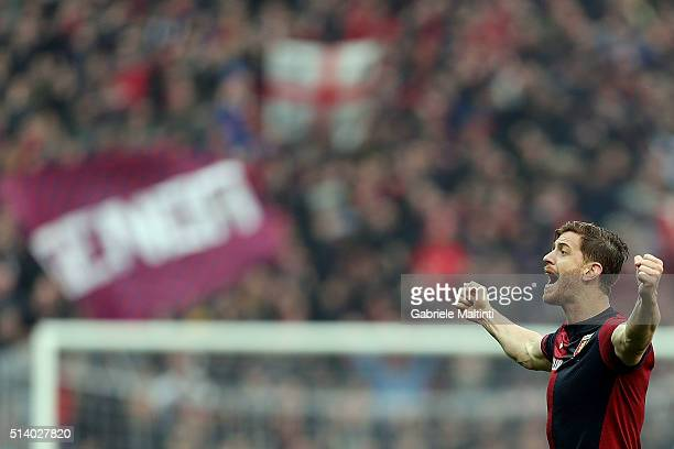 Cristian Ansaldi of Genoa CFC celebrates the victory after the Serie A match between Genoa CFC and Empoli FC at Stadio Luigi Ferraris on March 6 2016...