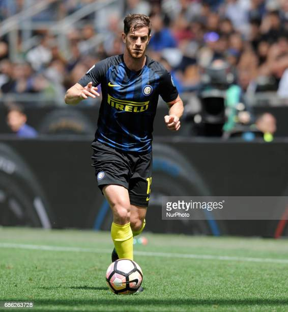 Cristian Ansaldi of Inter player in the bench before the Serie A match between FC Internazionale and US Sassuolo at Stadio Giuseppe Meazza on May 14...