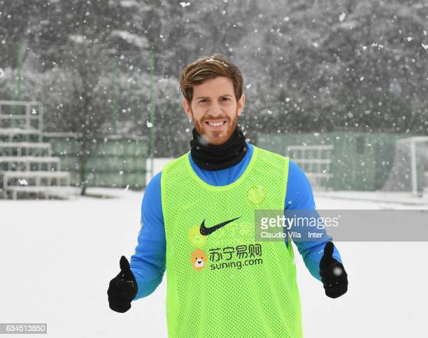 Cristian Ansaldi poses for a photo prior to the FC Internazionale training session at Suning Training Center at Appiano Gentile on February 10 2017...