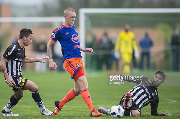 Cristian Benavente of Sporting de Charleroi Lex Immers of Feyenoord Diego Zidda of Sporting de Charleroi during the International friendly match...