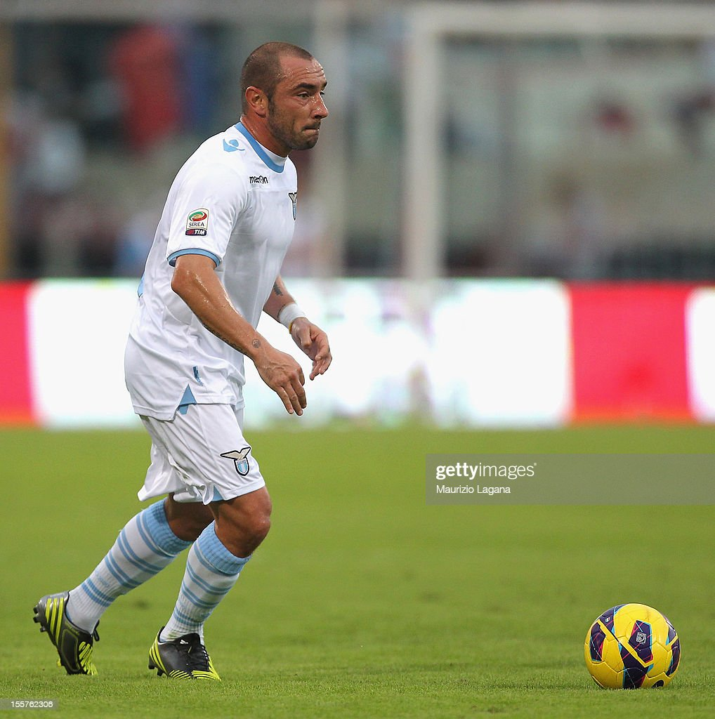 <a gi-track='captionPersonalityLinkClicked' href=/galleries/search?phrase=Cristian+Brocchi&family=editorial&specificpeople=728934 ng-click='$event.stopPropagation()'>Cristian Brocchi</a> of Lazio during the Serie A match between Calcio Catania and S.S. Lazio at Stadio Angelo Massimino on November 4, 2012 in Catania, Italy.