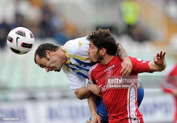 Cristian Bucchi of Pescaraand Filippo Agomeri Antonelli of Triestina in action during the Serie B match between Pescara Calcio and US Triestina...