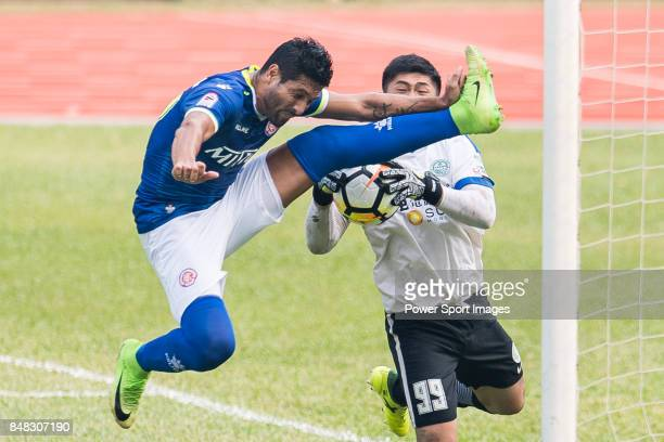 Cristian Caetano of Rangers in action during the week three Premier League match between BC Rangers and Wofoo Tai Po at Sham Shui Po Sports Ground on...