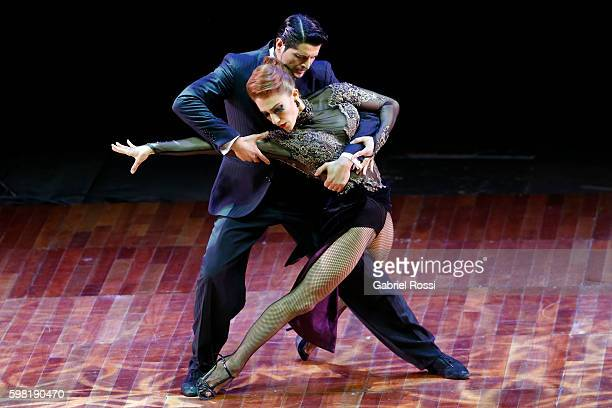 Cristian Correa and Leah Barsky of Argentina dance during the Stage Tango Final as part of Buenos Aires Tango Festival World Championship 2016 at...