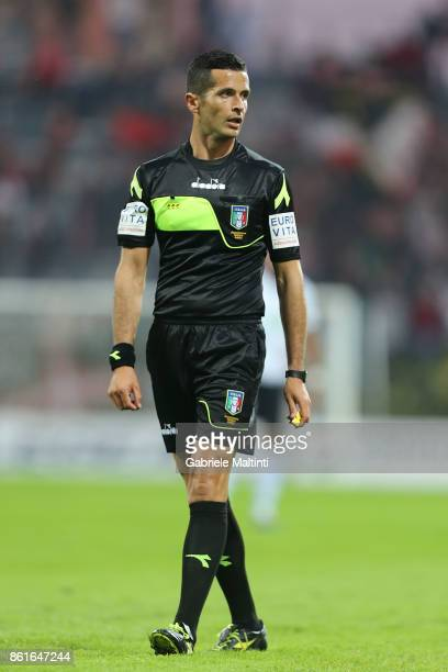 Cristian Cudini referee during the Serie A match between US Pistoiese v AS Lucchese at Stadio Marcello Melani on October 15 2017 in Pistoia Italy