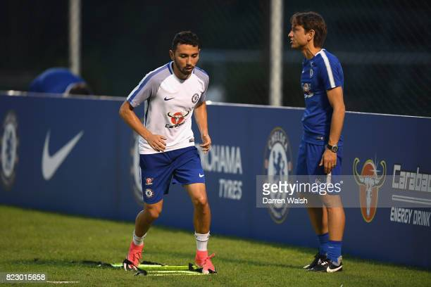 Cristian Cuevas of Chelsea during a training session at the Singapore American School on July 28 2017 in Singapore