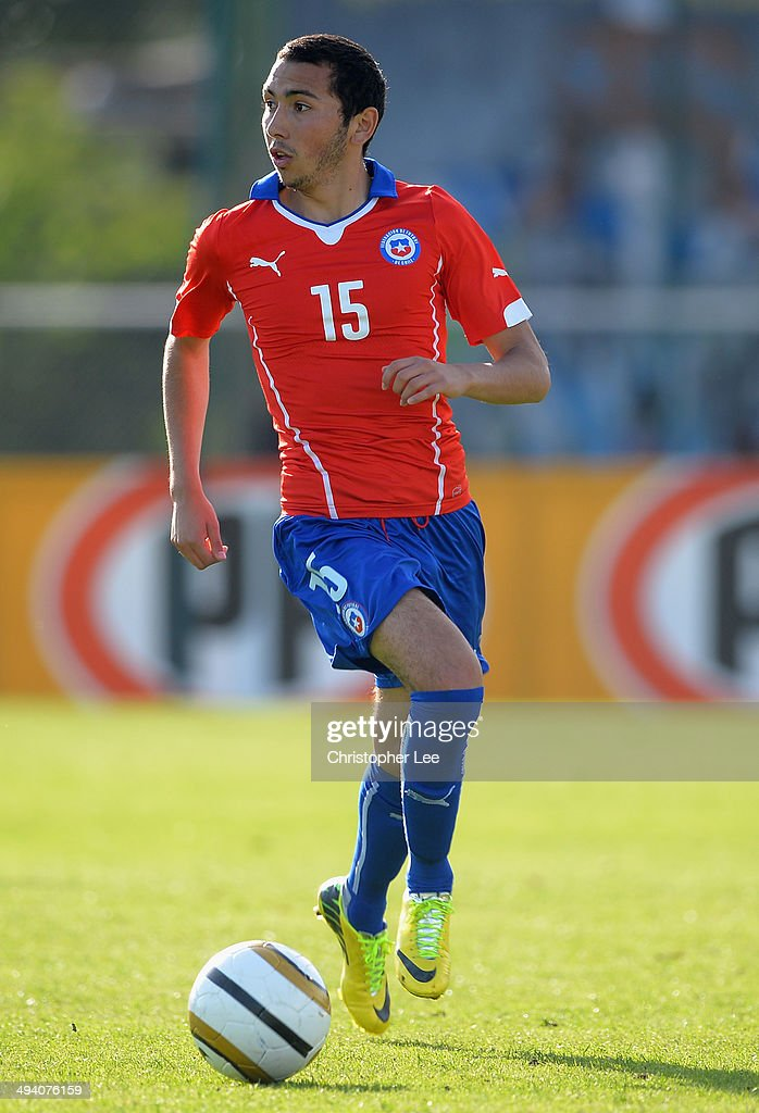 Cristian Cuevas of Chile during the Toulon Tournament Group A match between Chile and Mexico at the Stade De Lattre on May 27, 2014 in Aubagne, France.