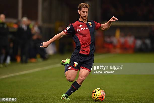 Cristian Daniel Ansaldi of Genoa CFC in action during the Serie A match between Genoa CFC and SS Lazio at Stadio Luigi Ferraris on February 6 2016 in...