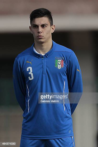Cristian Dell'Orco of Italy U20 beforethe international friendly match between Italy U20 and Qatar U20 on February 25 2015 in Montelupo Fiorentino...