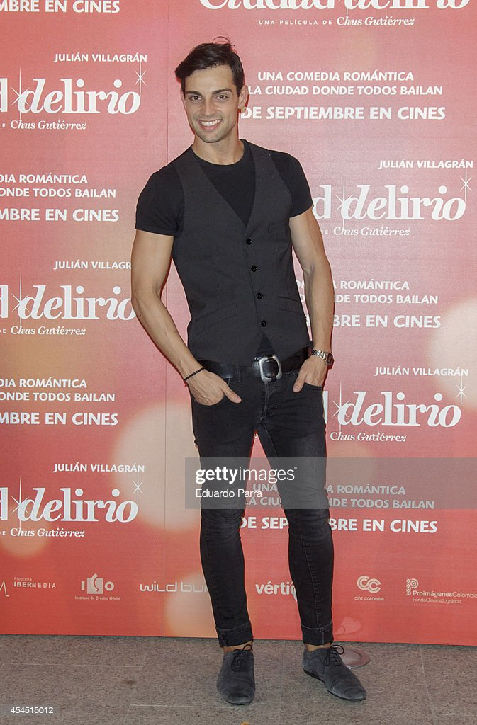Cristian Escudero attends 'Ciudad Delirio' premiere photocall at Academia del cine on September 2, 2014 in Madrid, Spain.