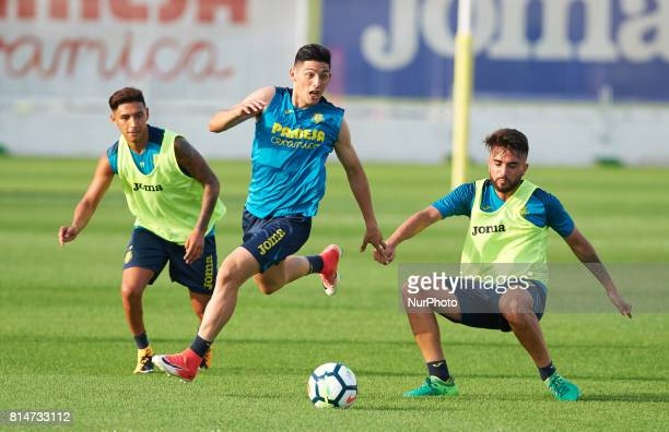 Cristian Espinoza during the first week of Villarreal CF training session at Ciudad Deportiva of Miralcamp July 14 in Vilareal Spain