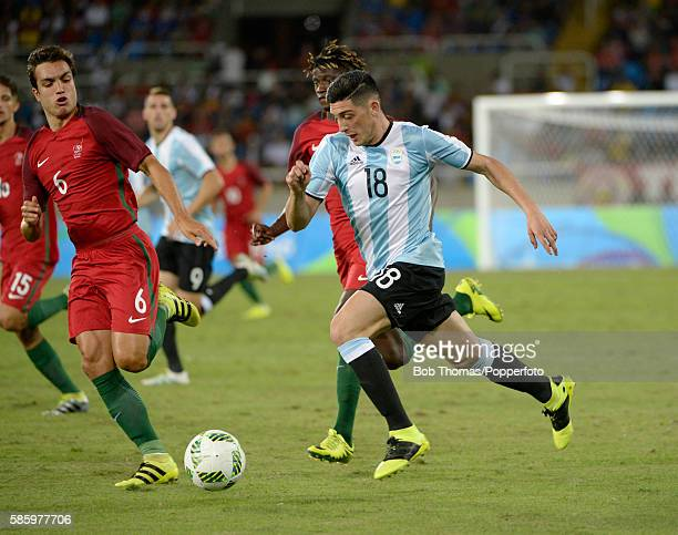Cristian Espinoza in action for Argentina during the Men's Group D first round match between Portugal and Argentina during the Rio 2016 Olympic Games...