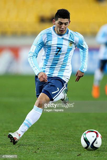 Cristian Espinoza of Argentina in action during the FIFA U20 World Cup New Zealand 2015 Group B match between Austria and Argentina at Wellington...