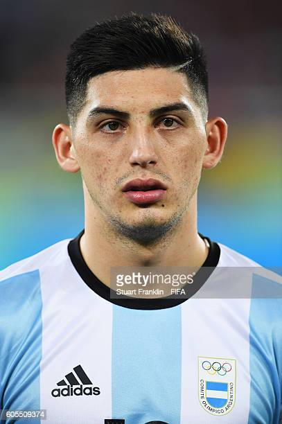Cristian Espinoza of Argentina looks on during the Olympic Men's Football match between Portugal and Argentina at Olympic Stadium on August 4 2016 in...