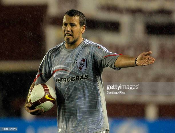 Cristian Fabiani of River Plate during a match as part of the Copa Nissan Sudamericana on September 17 2009 in Buenos Aires Argentina