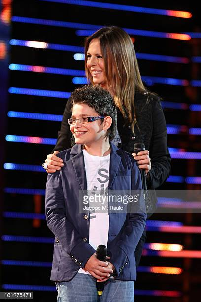 Cristian Imparato and Paola Perego attend the 2010 Wind Music Awards on May 29 2010 in Verona Italy