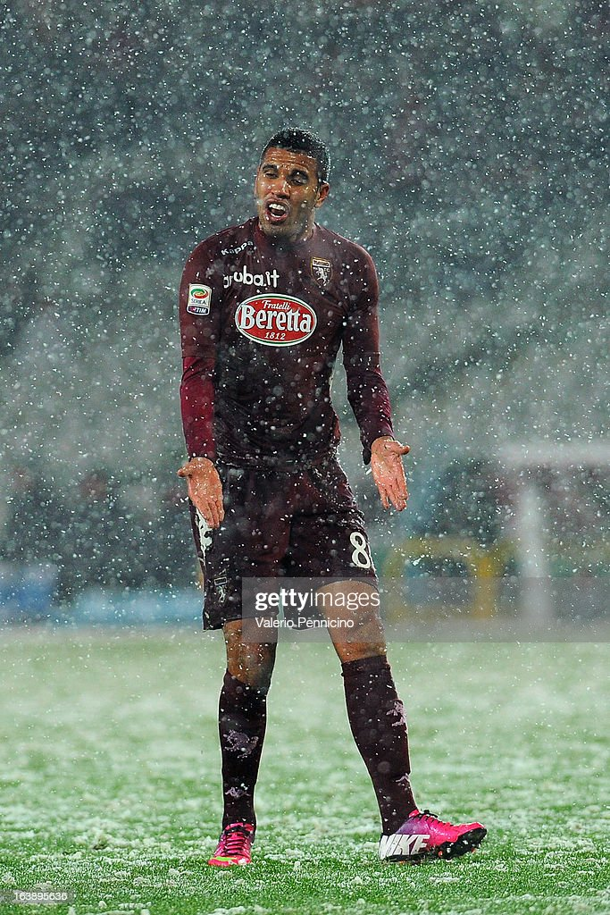 Cristian Jonathas of Torino FC reacts during the Serie A match between Torino FC and S.S. Lazio at Stadio Olimpico di Torino on March 17, 2013 in Turin, Italy.