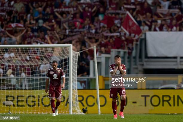 Cristian Molinaro and Juan Iturbe of Torino FC are disappointed during the Serie A football match between Torino FC and SSC Napoli SSC Napoli wins 50...