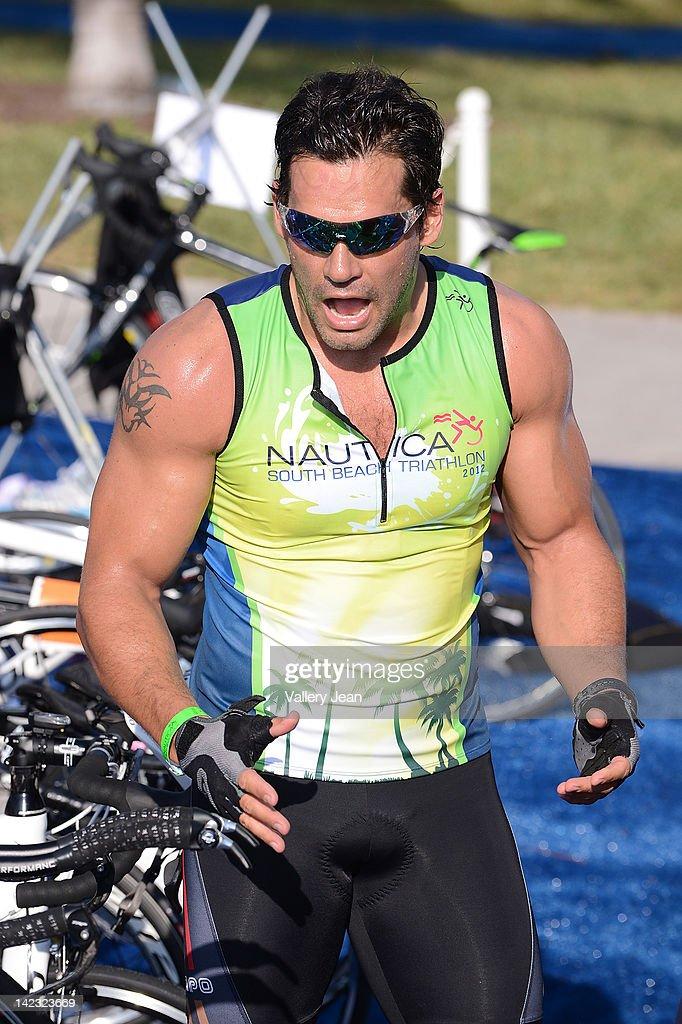 Cristian se la Fuente participates in the 5th Annual Nautica South Beach Triathlon to benefit St. Jude Children's Research Hospital on April 1, 2012 in Miami Beach, Florida.