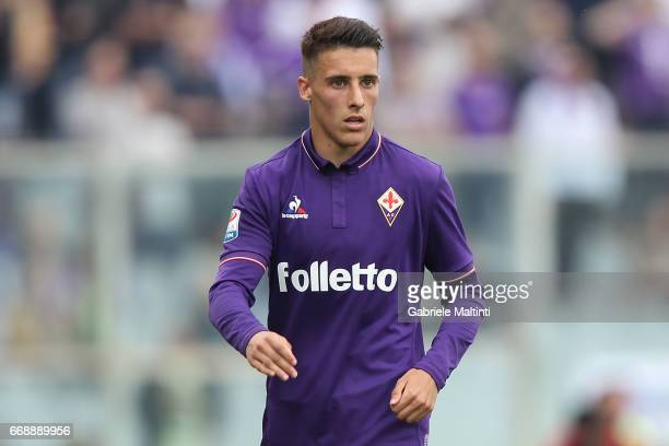 Cristian Tello of ACF Fiorentina in action during the Serie A match between ACF Fiorentina and Empoli FC at Stadio Artemio Franchi on April 15 2017...