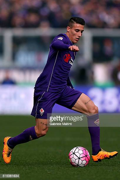 Cristian Tello ofm ACF Fiorentina in action during the Serie A match between ACF Fiorentina and Hellas Verona FC at Stadio Artemio Franchi on March...