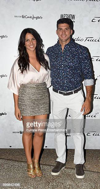 Cristian Toro and Irene Junquera pose during the photocall of Emidio Tucci Fashion Show at Costume Museum on September 6 2016 in Madrid Spain