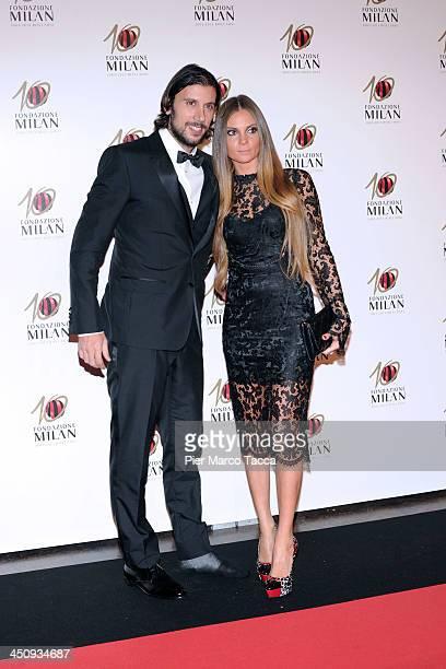Cristian Zaccardo and Alessia Zaccardo attend the Fondazione Milan 10th Anniversary Gala photocall on November 20 2013 in Milan Italy