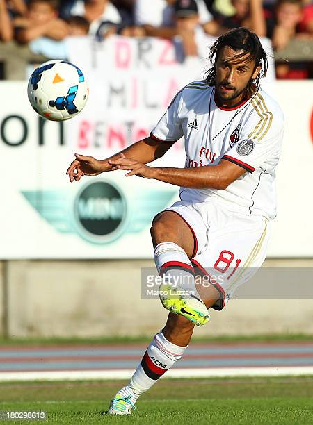 Cristian Zaccardo of AC Milan in action during the friendly match between Chiasso and AC Milan on September 7 2013 in Chiasso Switzerland