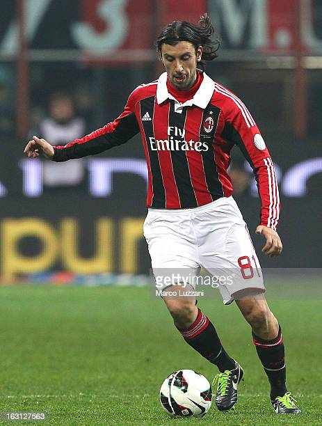 Cristian Zaccardo of AC Milan in action during the Serie A match between AC Milan and SS Lazio at San Siro Stadium on March 2 2013 in Milan Italy