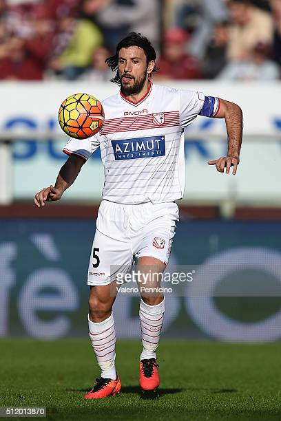 Cristian Zaccardo of Carpi FC in action during the Serie A between Torino FC and Carpi FC at Stadio Olimpico di Torino on February 21 2016 in Turin...