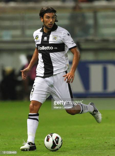 Cristian Zaccardo of FC Parma in action during the Serie A match between Parma FC and AC Chievo Verona at Stadio Ennio Tardini on September 2 2012 in...