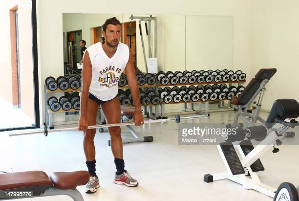 Cristian Zaccardo of Parma Fc trains in the Gym during a Parma FC PreSeason Training Session at Geovillage on July 7 2012 in Olbia Italy