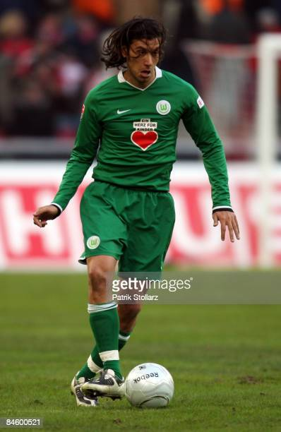 Cristian Zaccardo of Wolfsburg pictured during the Bundesliga match between 1FC Koeln and VfL Wolfsburg at the RheinEnergy stadium on January 31 2009...