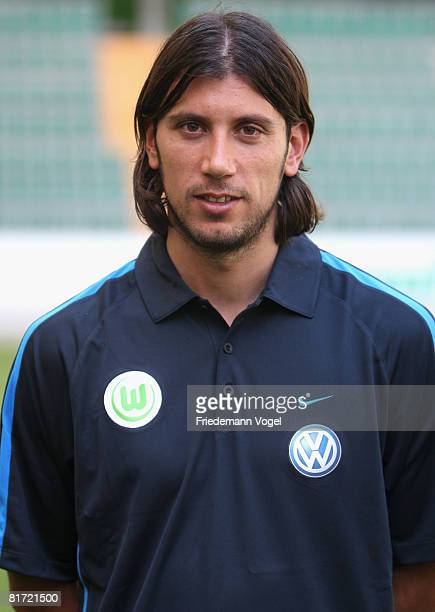 Cristian Zaccardo poses for the media during the VFL Wolfsburg training session at the Volkswagen Arena on June 26 2008 in Wolfsburg Germany VFL...