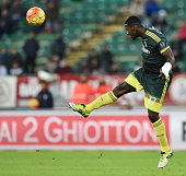 Cristian Zapata of AC Milan in action during a tornemnt between FC Internazionale AC Milan and AS Bari at Stadio San Nicola on November 24 2015 in...